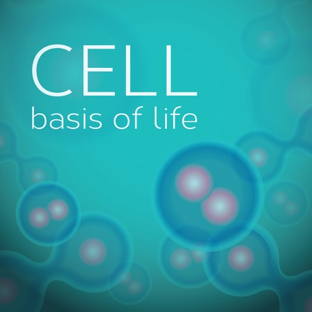 ameoba: Abstract color background with cells in dividing phase Illustration