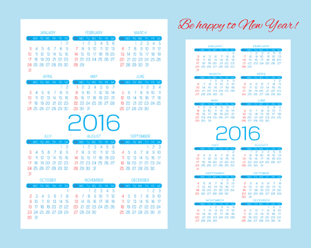 Calendar Grid For 2015 2016 2017 2018 2019 2020 For Business