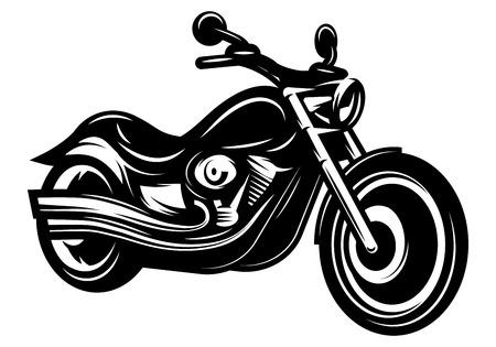 デザインのスタイリッシュな白黒レトロなバイク クルーザー チョッパー