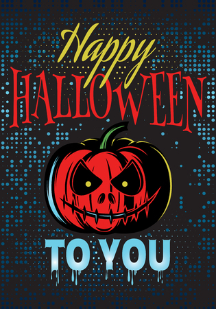 intertainment: vector template Halloween party with a pumpkin for advertising or invitation