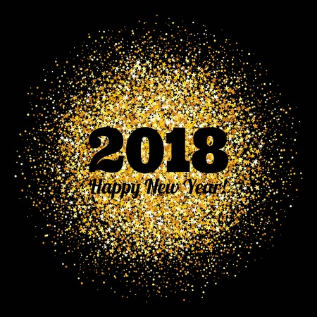 Abstract background with inscription and congratulations on new 2018 Year.