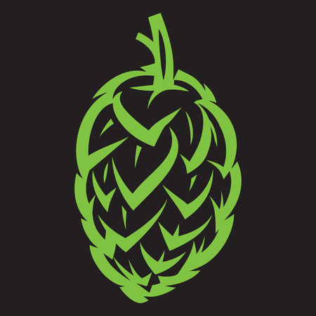 vector stylish illustration with hop kidney for design