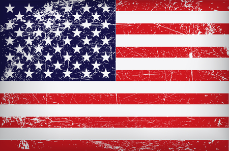 vector grunge flag of the united states of america.