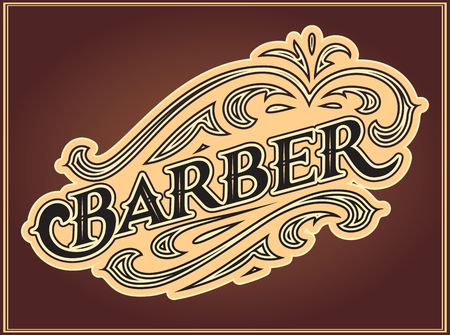 Color vector, editable template for the design of advertisements for barbershop. Vettoriali