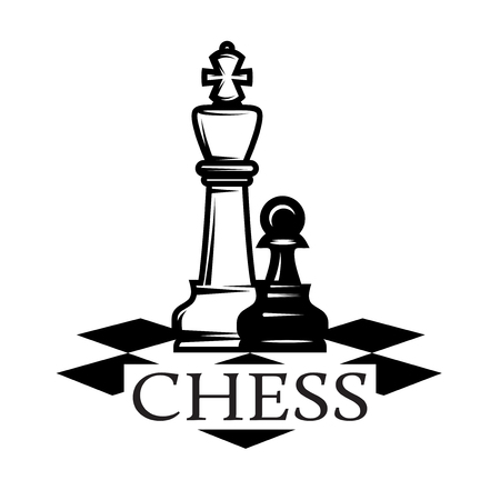 Vector monochrome pattern on chess theme with chess.