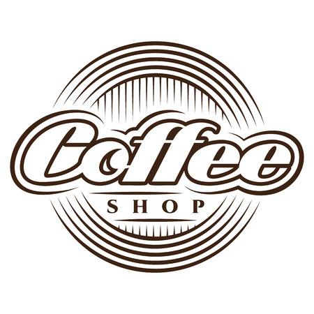 Vector template in retro style for coffee shop.