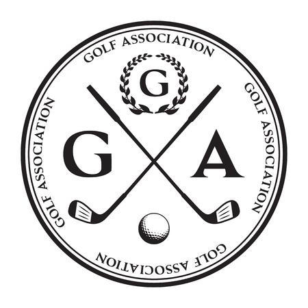 Vector label of golf. Logo of golf championship. Vector illustration. Illusztráció