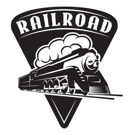 Vektorvorlage mit einer Lokomotive, Vintage-Zug.