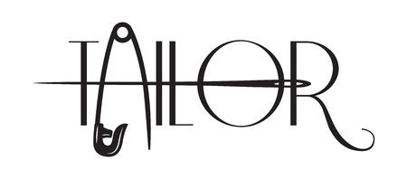 Illustrazione monocromatica di vettore sul tema della sartoria.