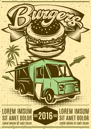 Dobry Burger Samochód. Szybka ciężarówka z jedzeniem.