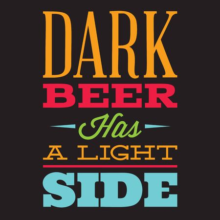 Vector set of stylized quotes on the topic of beer. Color text on a black background.