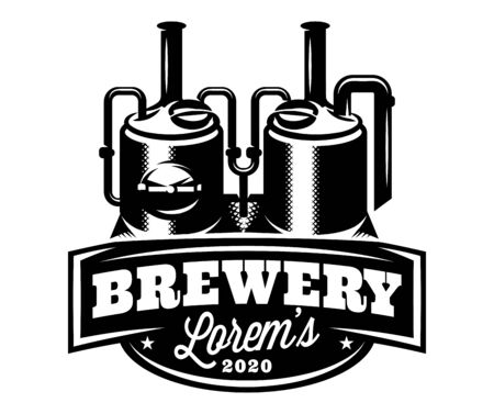 Vector monochrome pattern with brewing machine in retro style.  イラスト・ベクター素材