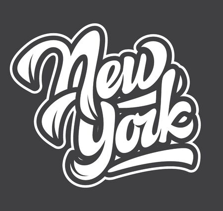 template with name of the state New York. Lettering.  イラスト・ベクター素材