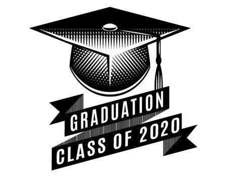 Graduation vector Class of 2020. Congrats grad Congratulations Graduate.