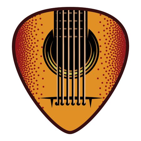 Stylish color plectrum for guitar. Vector illustration.