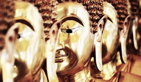 eye: Face of bhuddha