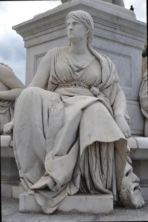 womanhood: Statues at Gendarmenmarkt Editorial