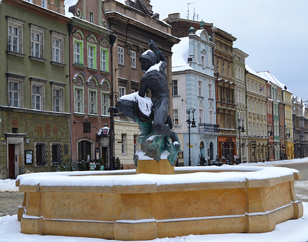 wielkopolskie: Sculpture of Mars. Poznan in Poland Stock Photo