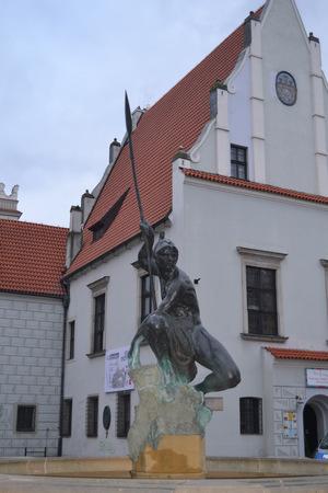 wielkopolskie: Sculpture of Mars. Poznan in Poland Stock Photo