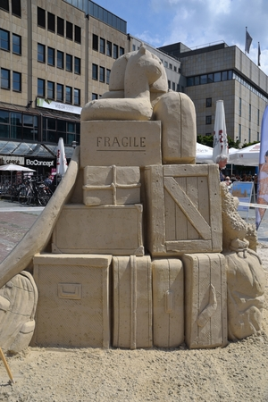 sculptures: sand sculptures