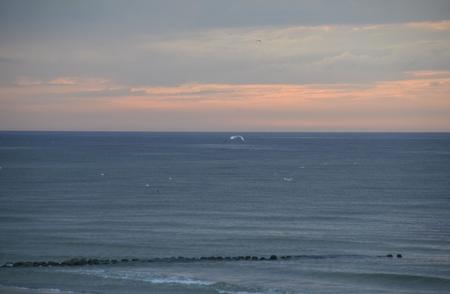 golden light: Sunset on sea. Bright sun on the sky. beach landscape