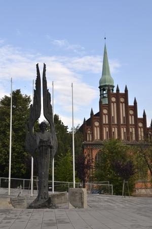 bristle: Szczecin buildings at river Odra