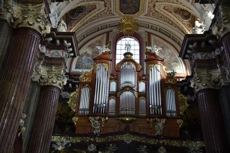 collegiate: Interior of Baroque Collegiate Church in Poznan