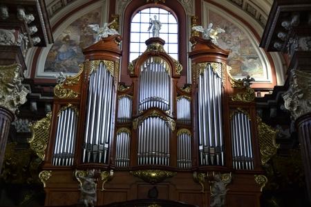 authorities: Interior of Baroque Collegiate Church in Poznan