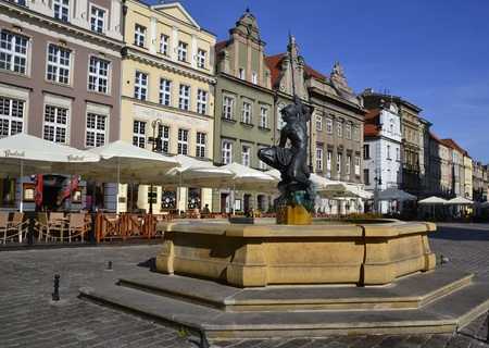 polen: Sculpture of Mars. Poznan in Poland Editorial