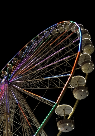 eye traveller: the big ferris wheel with night time, in Essen, Germany