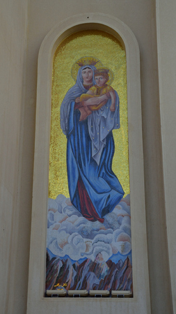 coptic orthodox: Church in Sharm El Sheikh Editorial