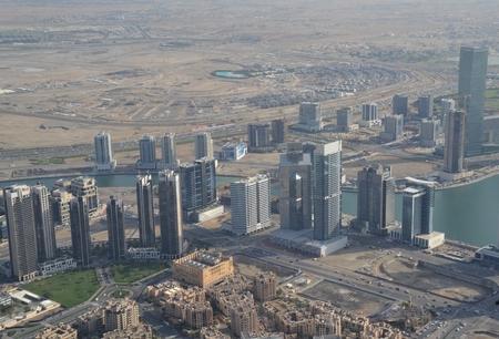 fantastical: Dubai aerial view Editorial
