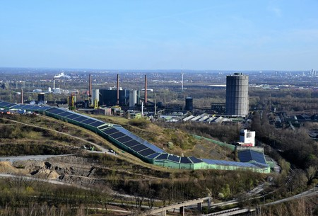 View of the Ruhr region from the tetrahedron in Bottrop Stock Photo