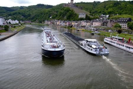 Romantic river cruises over the Rhine - medieval Cochem town. Germanium