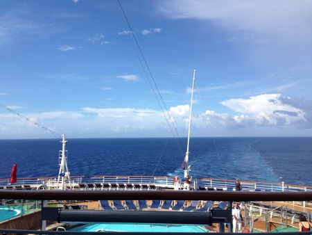 carribean: A morning at sea in the carribean