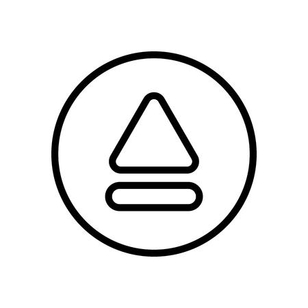 illustrazione vettoriale lettore multimediale video film contorno piatto moderno semplice distintivo e set di icone colorate style