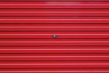 red roller shutter photo