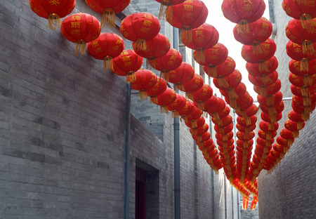 red lantern in the alley,Beijing photo