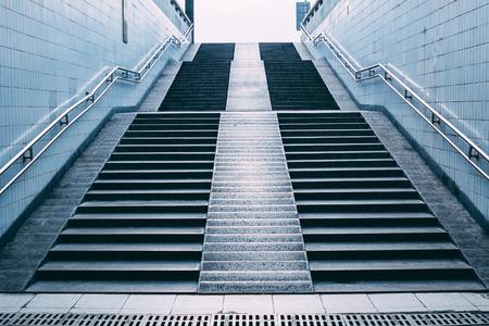 station m�tro: escaliers de la station de m�tro, Beijing