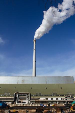 tall chimney: tall chimney in Beijing