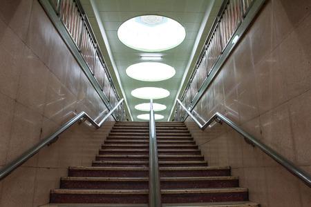 station m�tro: escaliers dans la station de m�tro, Beijing Banque d'images
