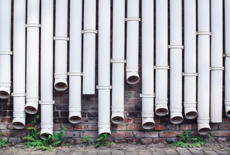 white water pipes as wall photo