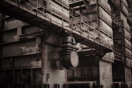 antique factory: Old factory with antique color