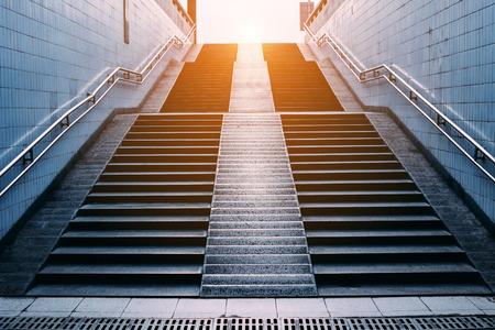 stairs of subway station,Beijing photo