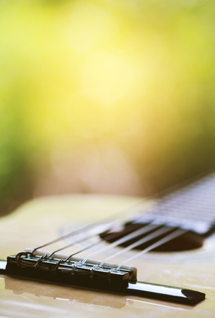 nylon string: Classical guitar on the window