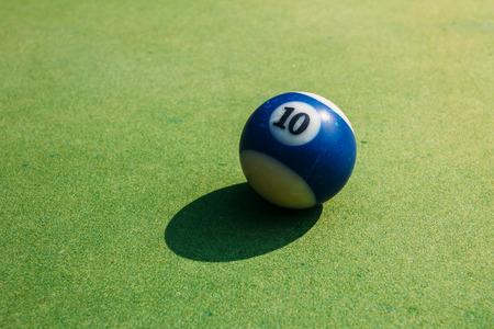 billiard ball: close up of billiard ball Stock Photo