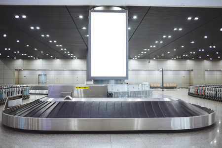 Baggage conveyor belt at Beijing airport