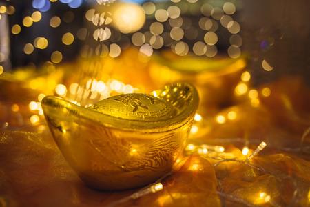 ingot: gold ingot and LED lamp
