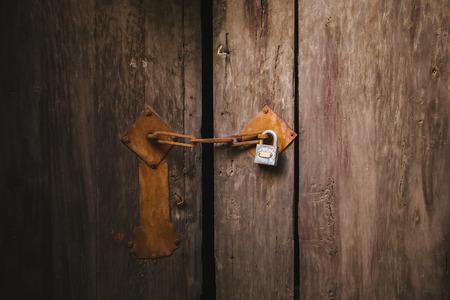 locked: locked old door in China