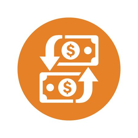 Finance, transaction, money transfer icon for any use like print media, web, stock images, commercial use or any kind of design project. Stok Fotoğraf - 149680179